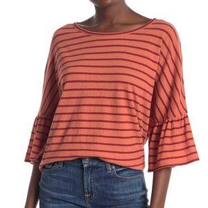 Madewell Stripe Flare Sleeve T-Shirt